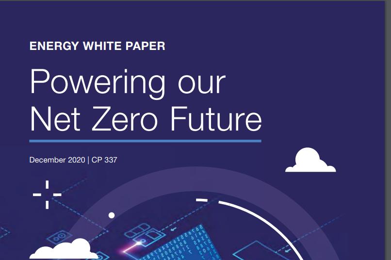 Energy white paper: Powering our net zero future